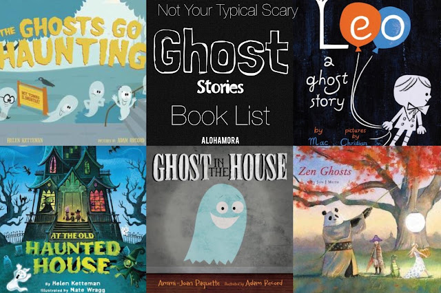 Not your tupical, or scary even Ghost stories picture book list.  These 5 books are fun to read, great counting concept books, and make for fun Halloween read alouds for parent, teachers, or librarians. Alohamora Open a Book http://www.alohamoraopenabook.blogspot.com/ kidlit, toddlers, preschool, 1st, 2nd, 3rd, 4th, 5th, 6th grade.  halloween, fun, funny, zombies, witches, monsters, friendship, tales