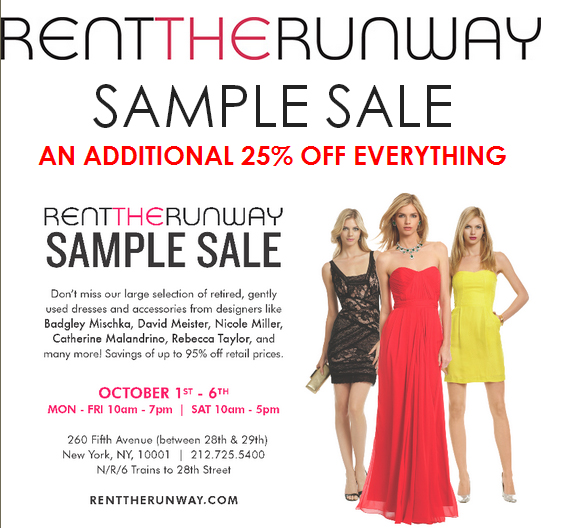 Haute on the Spot: Style: Rent the Runway Sample Sale UPDATE