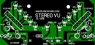 skema rangkaian led vu display PCB
