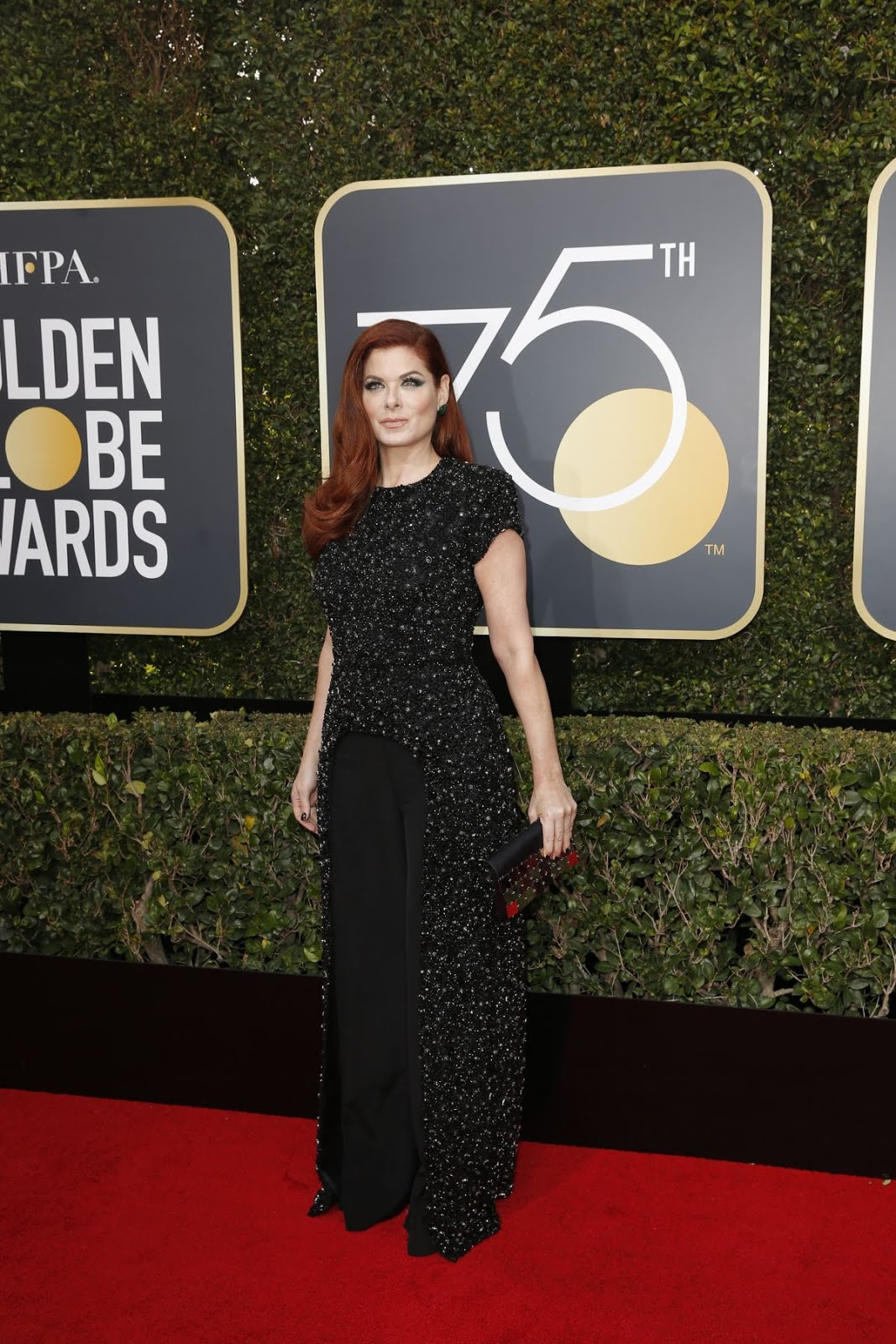 HD Photos of Debra Messing At 75Th Annual Golden Globe Awards In Beverly Hills