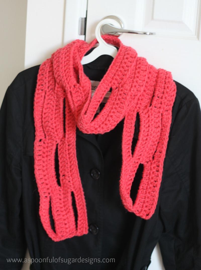 Easy Crochet Scarf {free pattern} - A Spoonful of Sugar