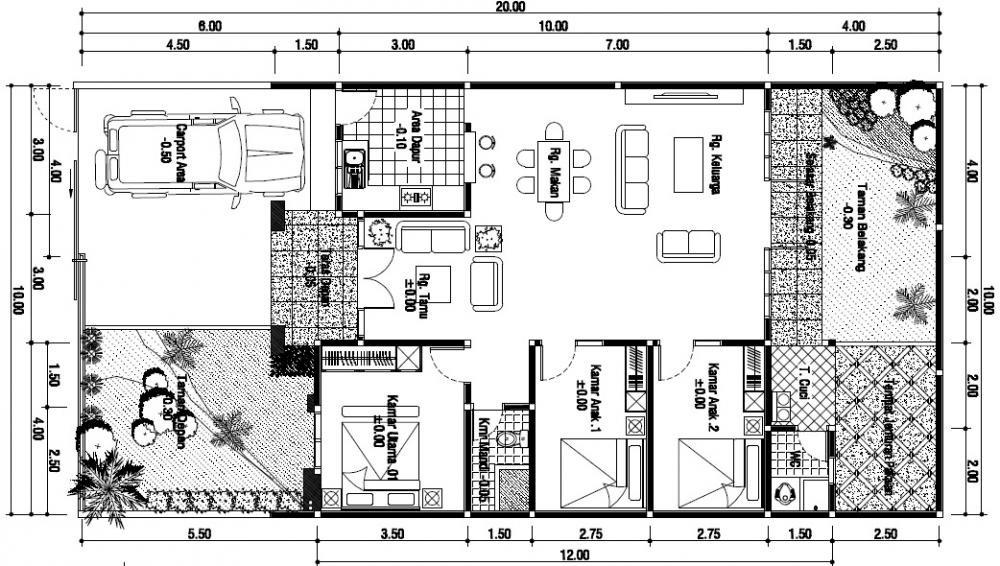 gambar denah rumah mewah modern 2