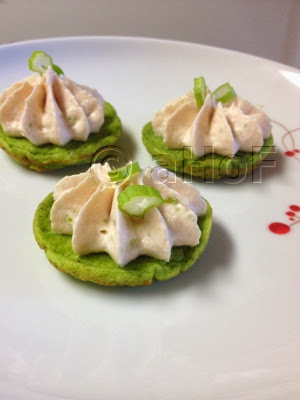 Green Pea Pancakes & Smoked Salmon Mousse