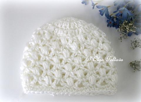 97be3b05f Lacy Crochet: Soft Puffs Baby Beanie