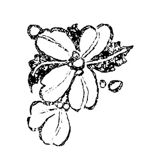 flower corner border image illustration