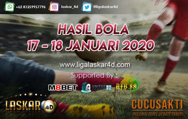 HASIL BOLA JITU TANGGAL  17 – 18 JANUARI 2020