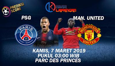 Prediksi Bola PSG vs Manchester United 7 Maret 2019