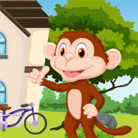 Play Games4King Cartoon Monkey…
