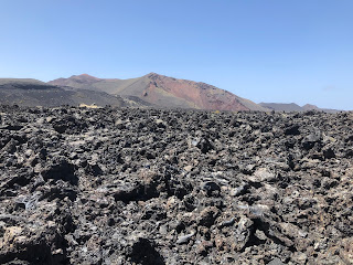 Volcanic deposits in Lanzarote