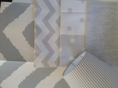 chevron and dots fabrics and wallpaper