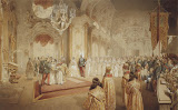 Wedding of Grand Duke Alexander Alexandrovich and Grand Duchess Maria Fiodorovna by Mihaly Zichy - History Drawings from Hermitage Museum
