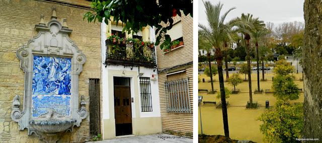 Uma fachada histórica de Córdoba e o Alcázar dos Reis Cristãos