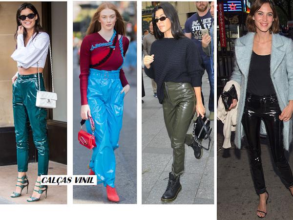 Os looks que pode fazer com calças vinil no outono 2017