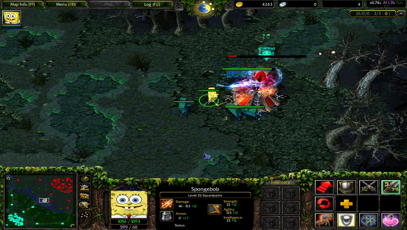 warcraft 3 map - dota ai 6.74c 1.3b