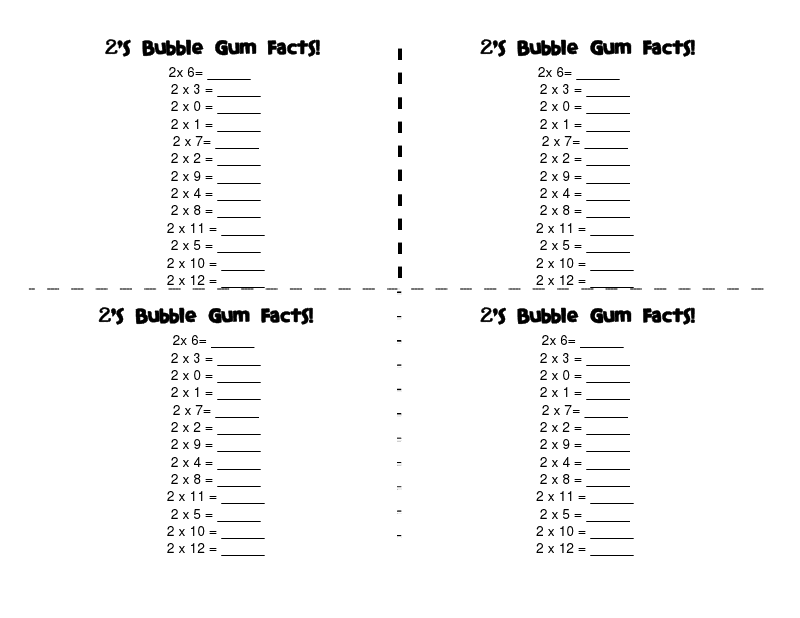 Multiplication Speed Drill Tests- Edited to Add…