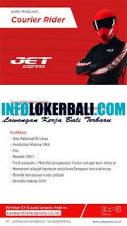 Info Lowongan Kerja Courir Rider JET Express Juli 2019