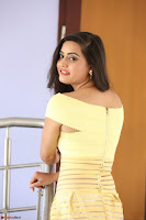 Shipra gaur in V Neck short Yellow Dress ~  038.JPG