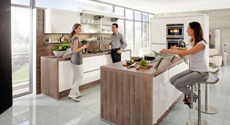La isla y la peninsula en las cocinas for Construir isla cocina