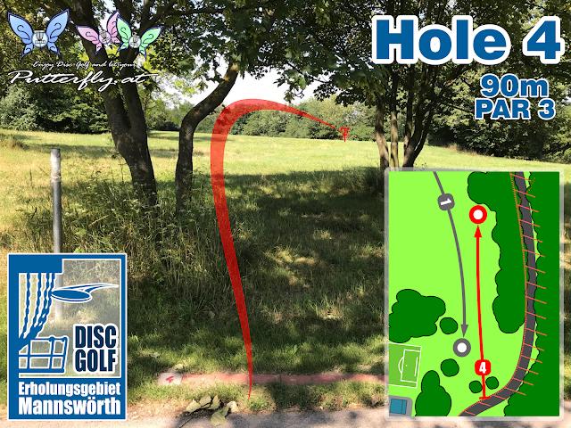 Hole 4 Disc Golf Parcours Erholungsgebiet Mannswörth - Schwechat