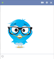 Eyeglasses bird icon
