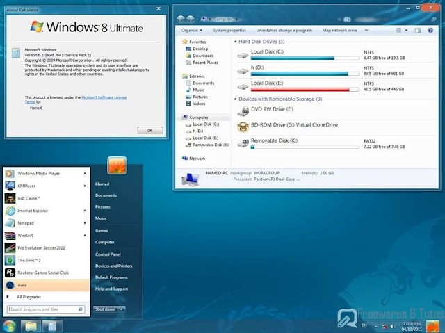 Windows 8 Skin Pack : transformez votre Windows 7 en Windows 8