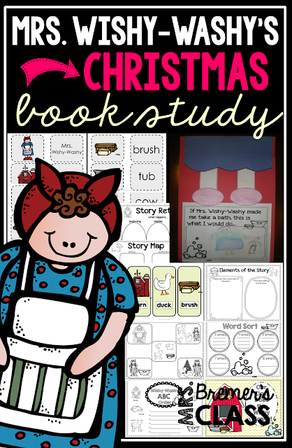 Mrs. Wishy-Washy's Christmas book study companion literacy activities