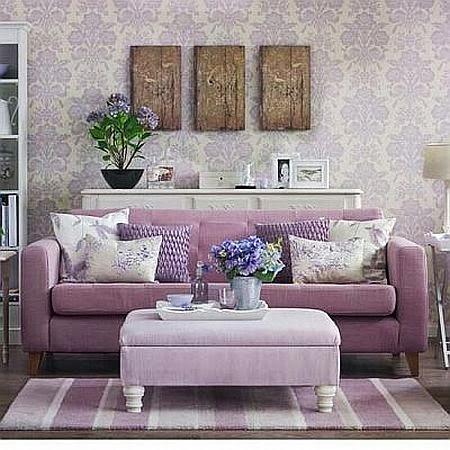 lilac and purple pastel livingroom
