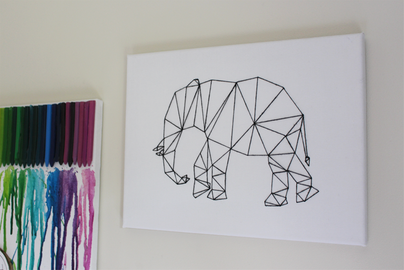 Diy Wall Art Drawing : Camis cushions diy project geometric animal wall art