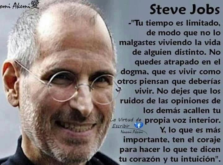 1821fdf0583 Steve Jobs muere a los 56 años , pero el era uno de los pocos seres humanos  que moría cada día, quizás por eso se reinventaba a cada momento .