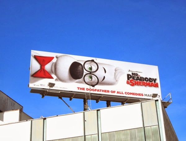 Mr. Peabody & Sherman movie billboard