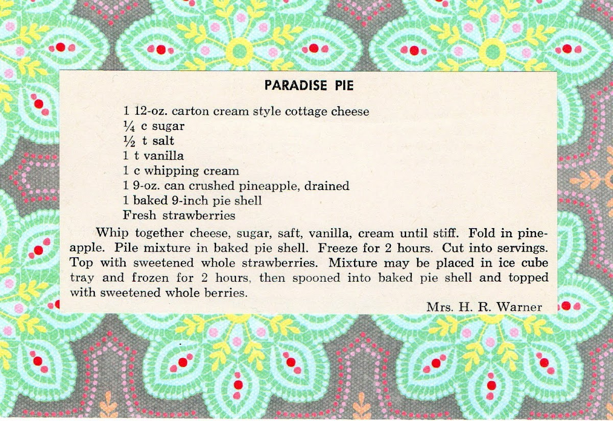 Paradise Pie (quick recipe)