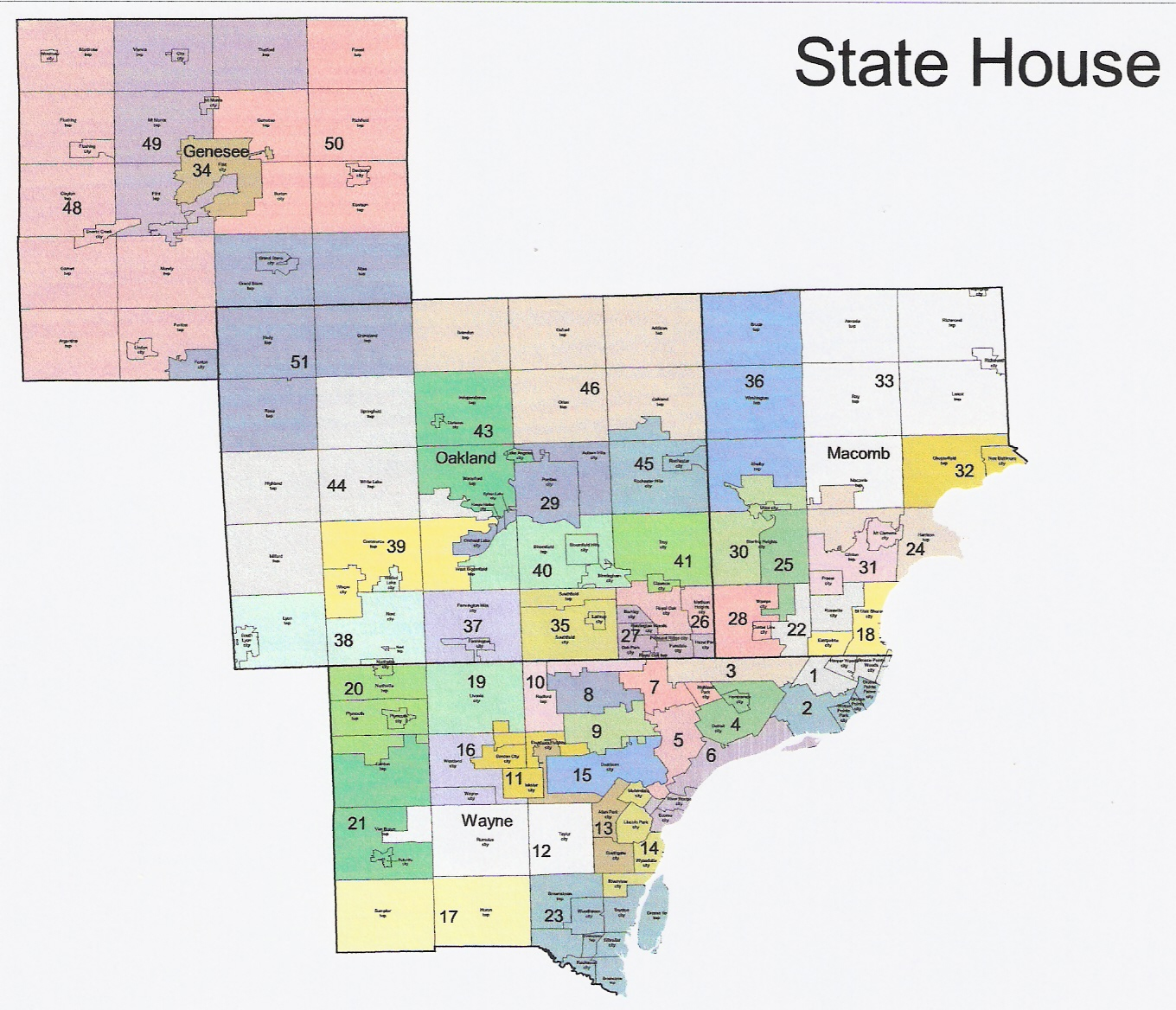michigan redistricting official 18 html us house of representatives district map michigan