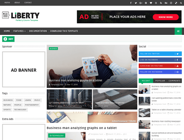 Liberty blogger template