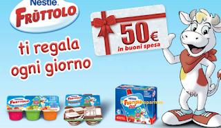 Logo Con Fruttolo vinci decine di buoni spesa da 50 euro