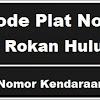 Kode Plat Nomor Kendaraan Rokan Hulu