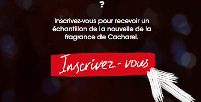احصل على عينة مجانية من العطر الفرنسي cacharel والى باب منزلك