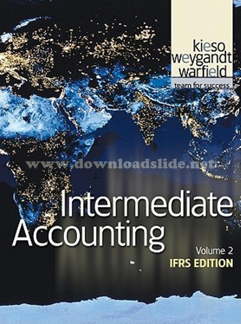 Solution Manual Intermediate Accounting IFRS Edition Volume 2 by Kieso,  Weygandt, Warfield