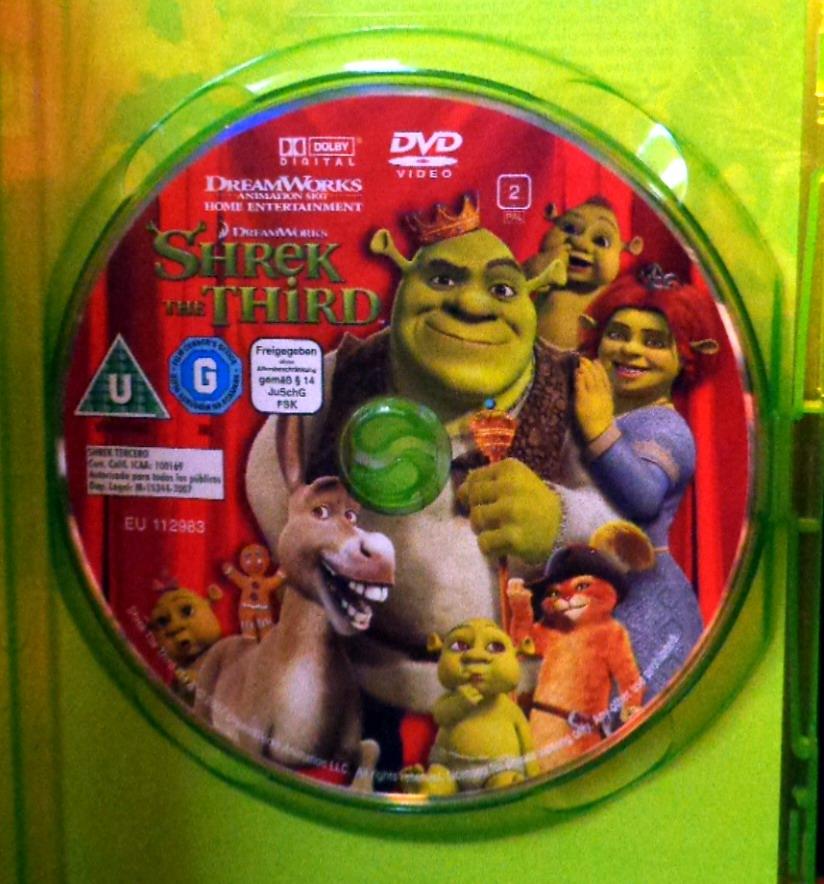 Movies On Dvd And Blu Ray Shrek The Third 2007