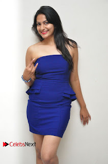 Actress Swetha Verma Pictures in Blue Dress at Wish You Happy Break Up Movie Premier Show  0035