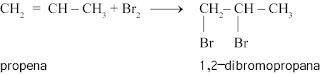 contoh reaksi adisi pada alkena