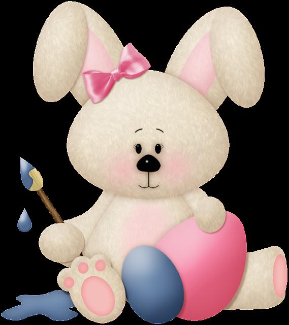 conejo con huevo de pascua imagen muy grande