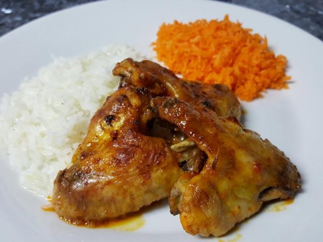 Asas de frango picantes no forno