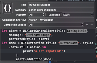 Alert Code Snippets