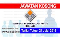 Jawatan Kerja Kosong Koperasi Permodalan Felda Malaysia Berhad logo www.ohjob.info julai 2016