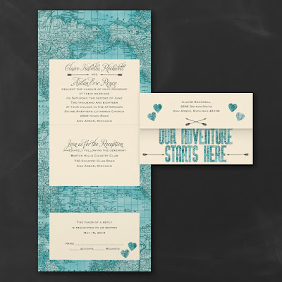 2016 Wedding Trends - Travel and Map Wedding Invitations