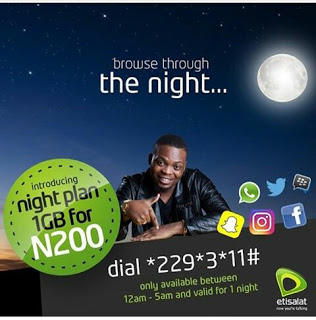 How To Get Etisalat 1GB For Just #200.