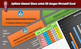 Download File Excel : Contoh Format Absen Siswa Rekap Secara Otomoatis