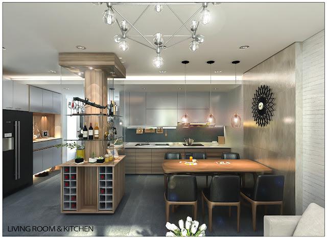 Ảnh minh họa Livingroom &kitchen2 liền kề thanh hà