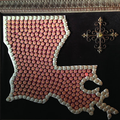 State of Louisiana Made with Abita Bottle Caps