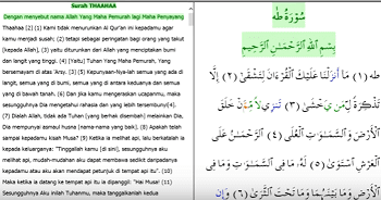Surah Thaha Arab Latin Dan Terjemahan Peraturan Materi